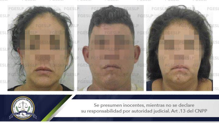 FISCALÍA CUMPLIMENTA 3 ÓRDENES DE APREHENSIÓN POR PRESUNTO ROBO A UN COMERCIO DE SLP